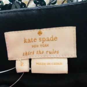 black mini sequin skirt Kate Spade